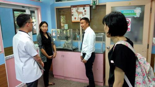 โครงการจัดตั้งสำนักวิชาสัตวแพทยศาสตร์ ม.วลัยลักษณ์ เยี่ยมชมศึกษาดูงานโรงพยาบาลสัตว์สมุทรสงครามและโรงพยาบาลสัตว์ตลิ่งชัน